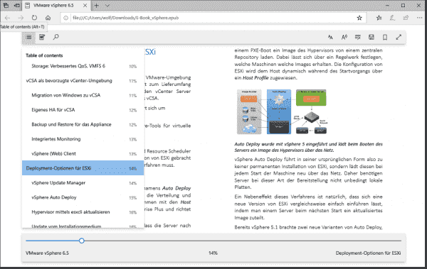 Microsoft Edge is now a full fledged reader for e books in epub format