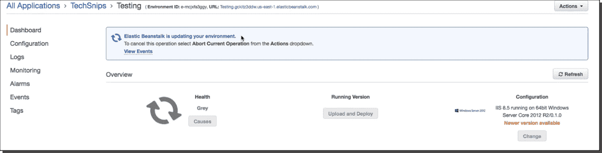 Deploy an AWS Elastic Beanstalk application with PowerShell