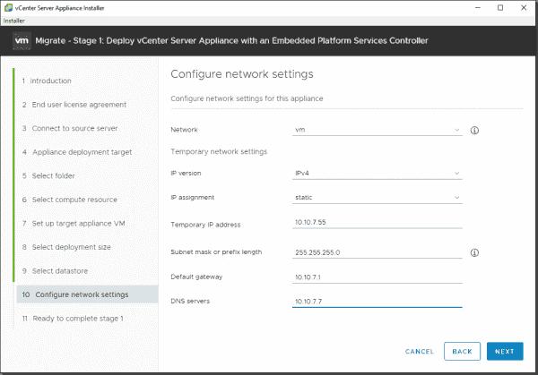Configure network settings