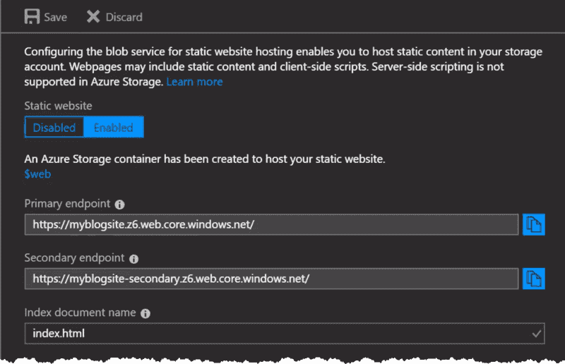 Create a static website in Azure – 4sysops
