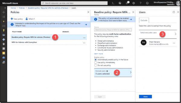 Customizing a built in conditional access policy