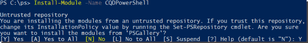 Installing the CQD PowerShell module