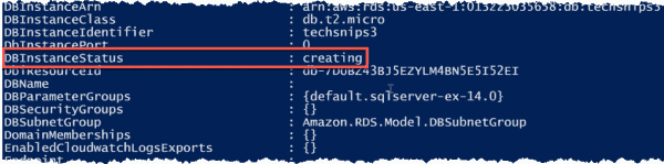 Instance in a creating state