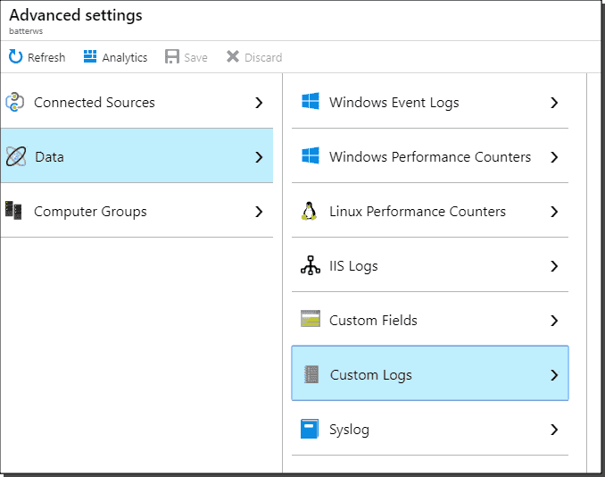 Custom logs and fields in Azure Log Analytics – 4sysops