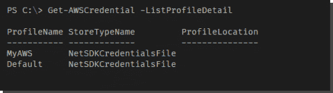 Working with AWS credentials using PowerShell