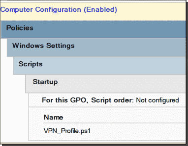 Always On VPN device profile deployment with Group Policy