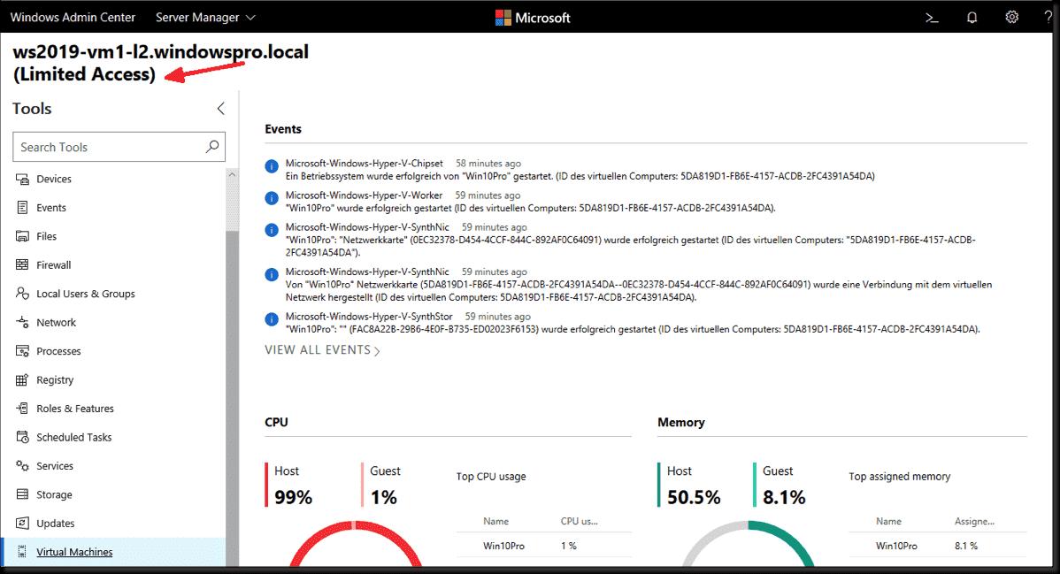 Windows Admin Center: Role-based access control