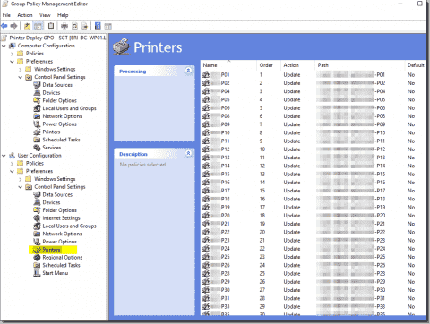 Deploying printers using Group Policy