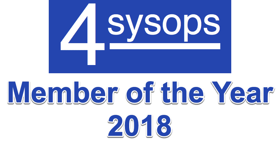 4sysops member of the year 2018