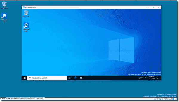 The Sandbox starts each time with a clean install of Windows 10