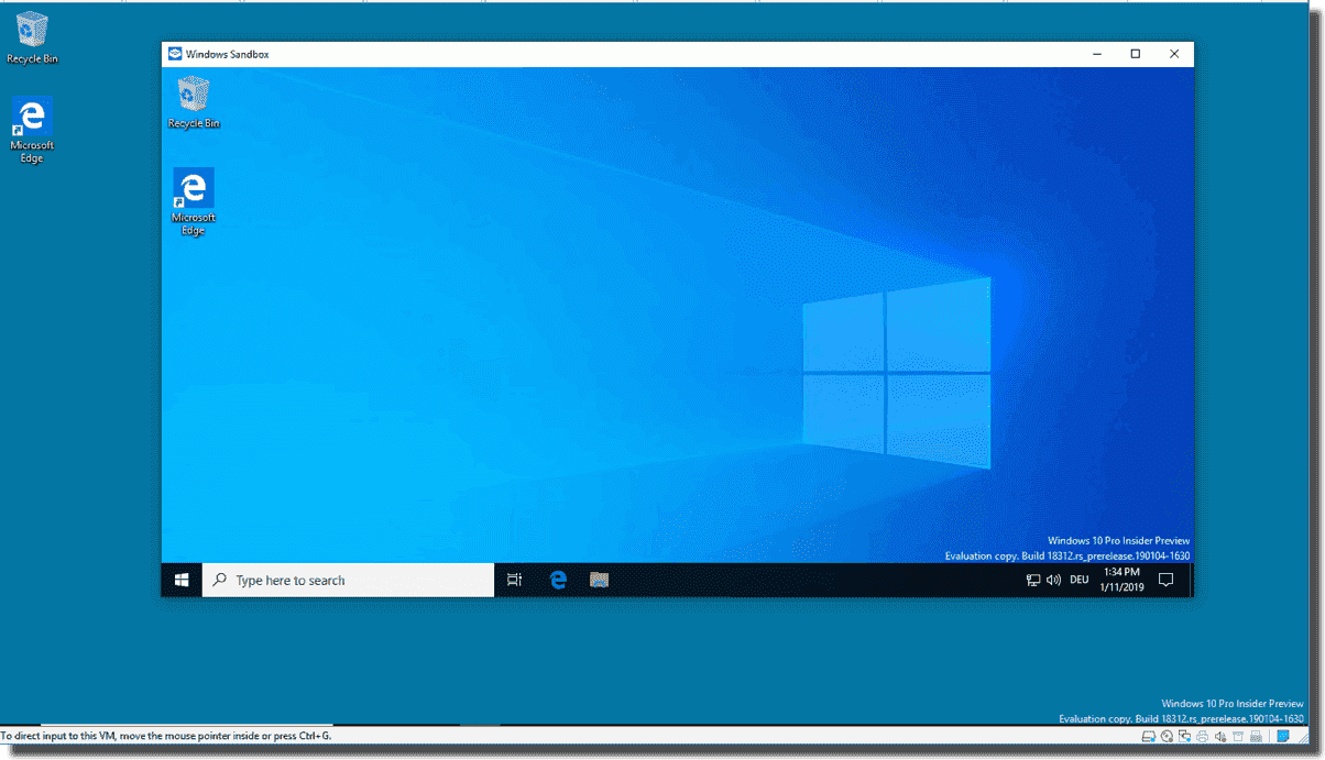 Windows 10 Sandbox: Running applications in an isolated environment