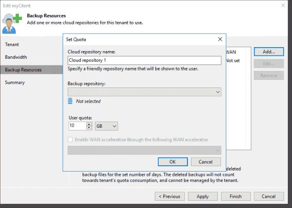 Add a tenant Add a cloud repository