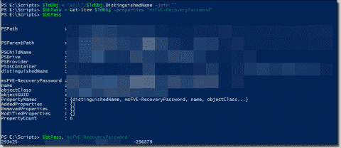 Find BitLocker recovery passwords in Active Directory with PowerShell