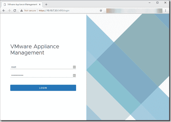 Connect to the VCSA appliance