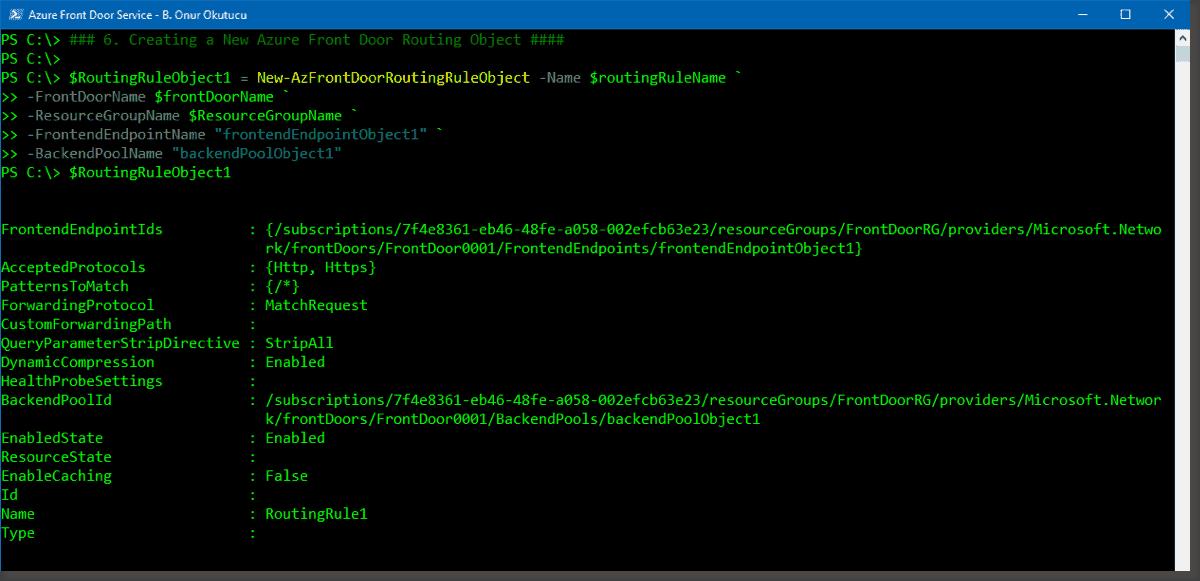 Creating an Azure Front Door using PowerShell