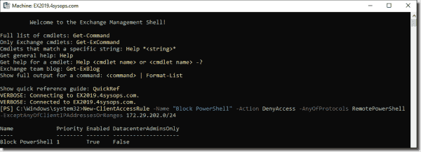 Creating a rule to block PowerShell
