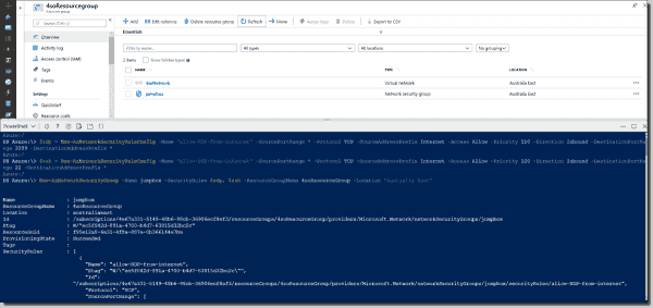 Creating an Azure Network Security Group