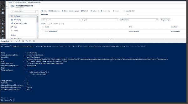 Creating an Azure Virtual Network