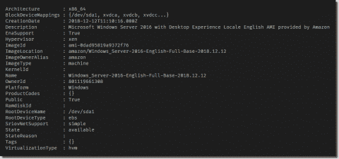 AWS AMI discovery with PowerShell