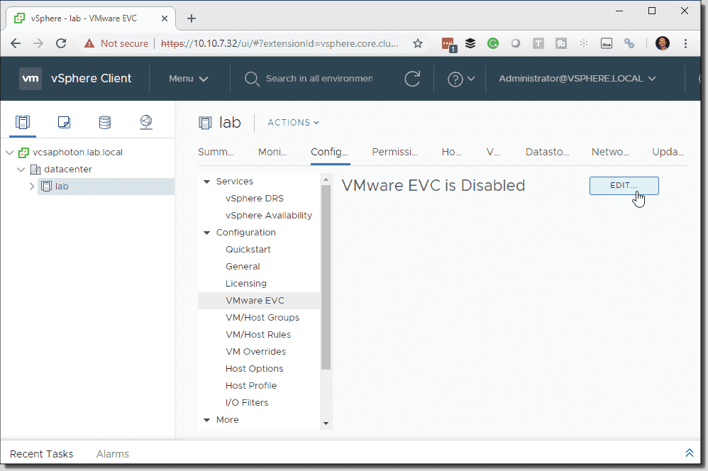 The difference between VMware cluster-level EVC and VMware