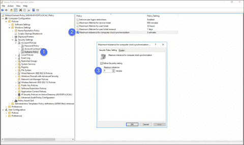 Configure Active Directory for high accuracy time synchronization