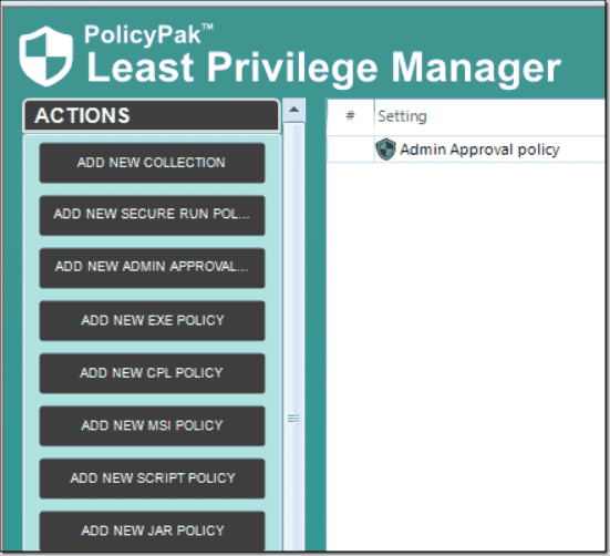 Configuring an Admin Approval policy for remote UAC elevation