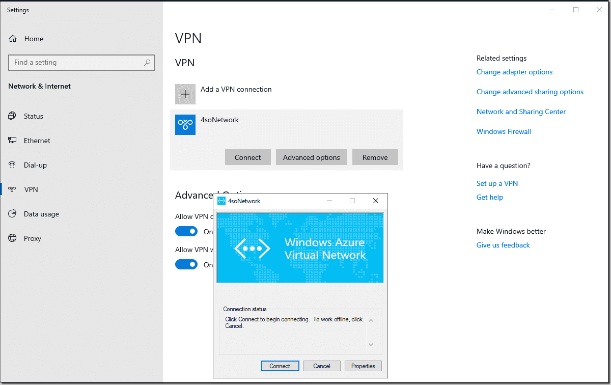 Creating a point-to-site VPN to your Azure network – 4sysops