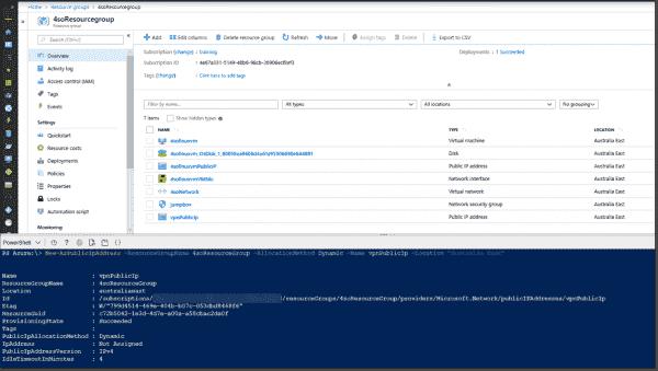 Creating an Azure public IP address