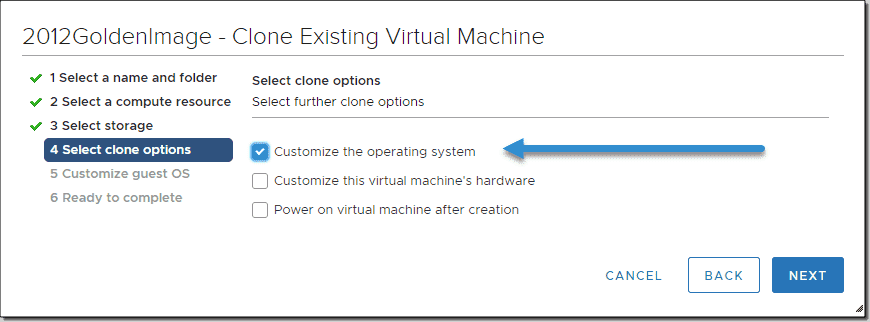 Clone a VMware VM with guest OS customization – 4sysops