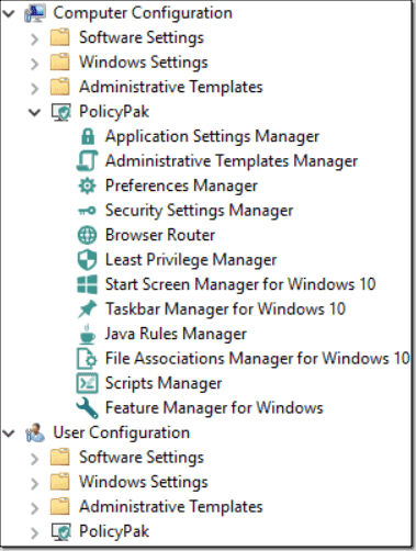 PolicyPak Group Policy Edition: Deploy any settings and apps
