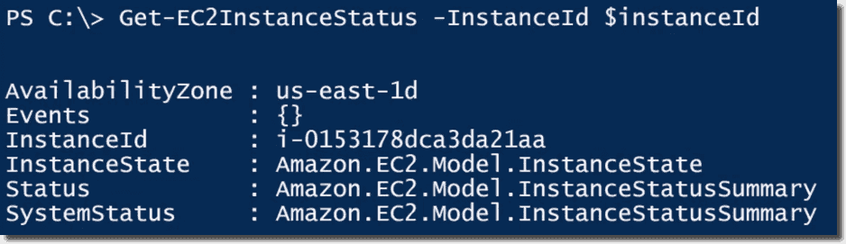 Start, stop, and monitor AWS EC2 instance status using PowerShell