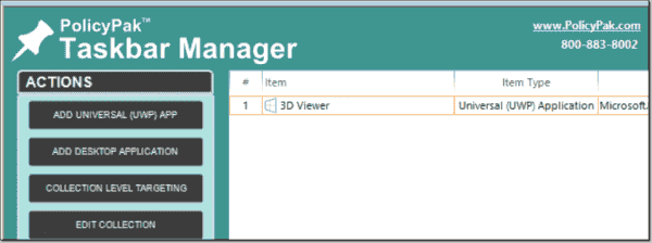 Pinning 3D Viewer to the taskbar in Windows 10