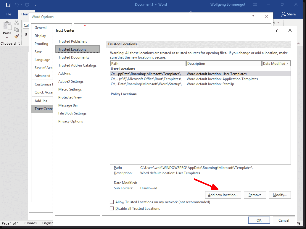 Restricting or blocking Office 2016/2019 macros with Group