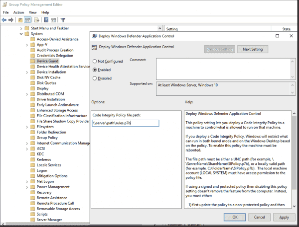 You can also distribute policies for WDAC via GPO