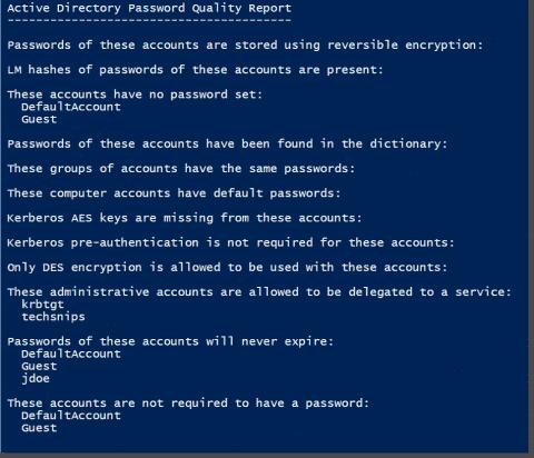 Find weak Active Directory passwords with PowerShell