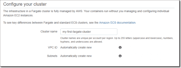 Cluster naming and creation