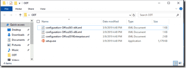 Content of the Office Deployment Tool