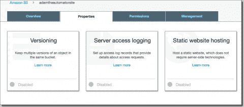 How to create a static website in AWS