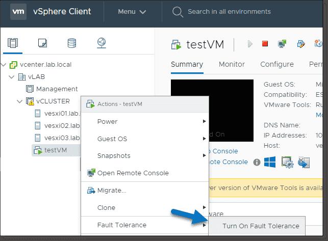 VMware vSphere 6 7 Fault Tolerance: the ultimate VM