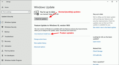 New with updates in Windows 10 1903: defer upgrades in all editions, SAC-T removed, new reboot option