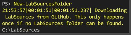 Create the lab sources folder