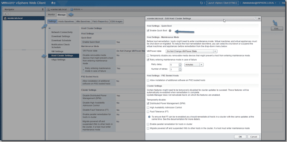 What is VMware ESXi Quick Boot and how to configure it