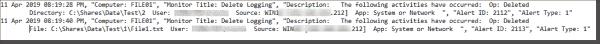 Example 1: Delete logging