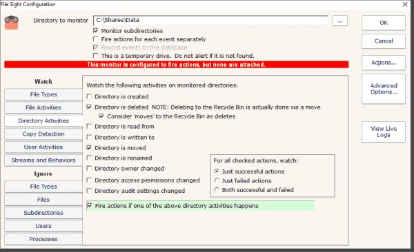 Example 1: Directory activities