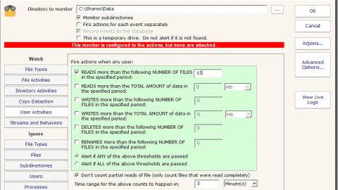 Example 2 Copy detection setup