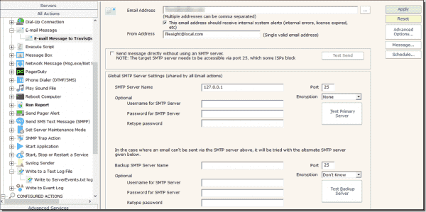 Example 2: Email setup