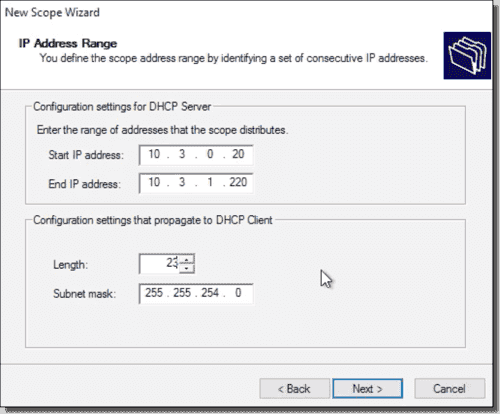 Configure DHCP scopes in Windows Server – 4sysops