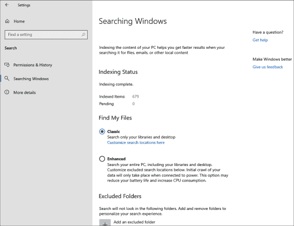 You can easily extend the index for the desktop search to the whole PC