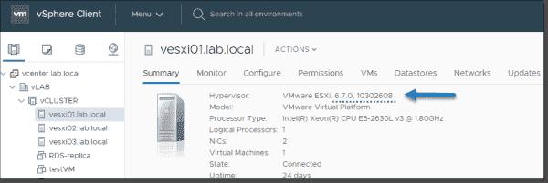 Upgrade vSphere ESXi to 6.7 U2