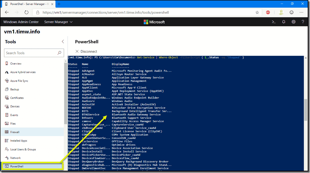 Use Windows Admin Center with PowerShell – 4sysops